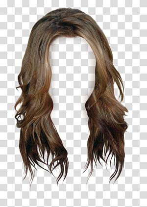 peruca marrom, cabelo castanho peruca cabelos longos, peruca PNG clipart