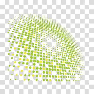 Tecnologia de luz Eficácia luminosa Material euclidiano, Material de efeito de luz de tecnologia, ilustração com bolinhas amarelas e brancas png