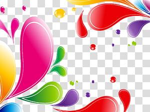 arte-de-rosa, verde e vermelha, forma gota cor euclidiana, fundo de gotas de água colorida png