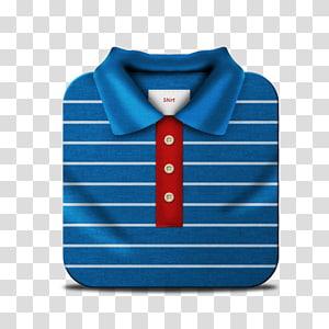 camisa polo azul, vermelha e branca, padrão de manga com gravata azul, Polo PNG clipart