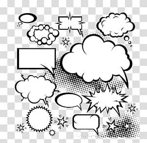 Quadrinhos Balão de fala Quadrinhos livro Diálogo, nuvem quadrinhos explosão Diálogo, mensagem conversa caixas ilustração PNG clipart