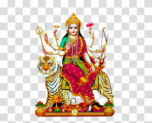 Mulher de Buda montando ilustração de tigre, templo de Kanaka Durga Durga Puja Kali, Dussehra PNG clipart