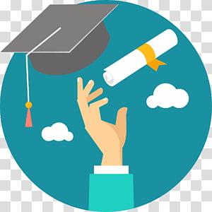 placa e diploma de argamassa, ícone da Universidade de pós-graduação em educação para estudantes, jogue a tampa e o certificado mestre no céu PNG clipart