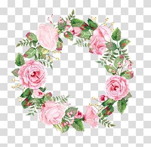 de grinalda de flores de pétalas de rosa, grinalda, guirlandas de flores PNG clipart