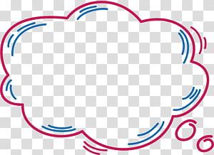 Caixa de diálogo Diálogo, caixa de diálogo nuvem rosa, ilustração de nuvem png