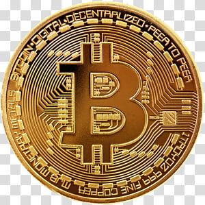 moeda Bitcoin dourada, oferta inicial de moedas Bitcoin Cryptocurrency Monero, bitcoin png