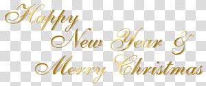 Dia de ano novo de Natal, feliz ano novo de ouro e feliz Natal texto, fundo marrom com sobreposição de texto png