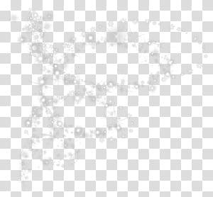 Padrão de ângulo de ponto preto e branco, flocos de neve com efeito brilhante PNG clipart