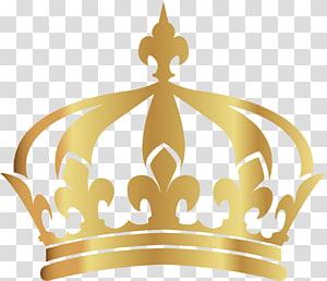 Coroa, coroa de ouro pintada à mão, ilustração da coroa de cor dourada PNG clipart