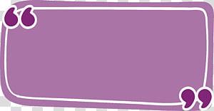 ilustração da caixa de mensagem, cotação de retângulo roxo, caixa de referência de retângulo roxo png