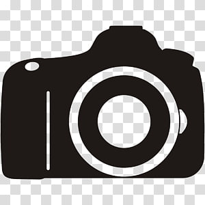 Logotipo da câmera, câmera s, ilustração de câmera preta PNG clipart