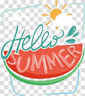Olá ilustração de verão, STAR SOUL, melancia Olá verão Poster PNG clipart