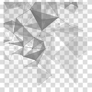 Tecnologia euclidiana, material criativo de tecnologia, abstrato azul e preto PNG clipart