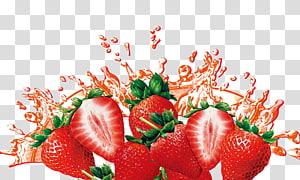 morangos fatiados, suco de morango Smoothie Suco de cranberry Frutti di bosco, respingo de morango png