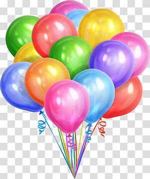 ilustração de balões de cores sortidas, balões de sonho colorido png