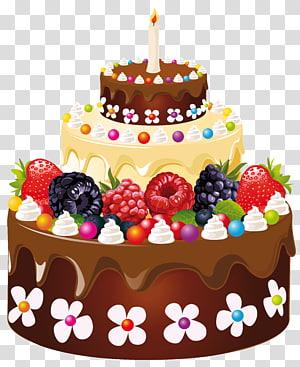 Bolo de aniversário Bolo de chocolate, bolo de aniversário com velas, ilustração de bolo de aniversário png