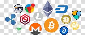 Moeda inicial de Bitcoin da Blockchain de criptomoeda que oferece Ethereum, criptomoeda png