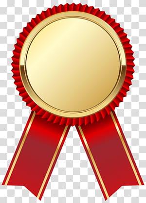 Gráficos escaláveis de fita, medalha de ouro com fita vermelha, fita vermelha e marrom png