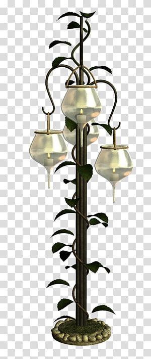 ilustração de poste de luz de metal preto e bege, luminária Pendente, lâmpada incandescente, luzes penduradas PNG clipart