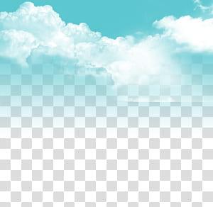 Céu de nuvens, céu azul e nuvens brancas, céu nublado durante o dia PNG clipart