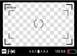 ilustração de quadro preto, câmera de filme no visor, tela da câmera PNG clipart