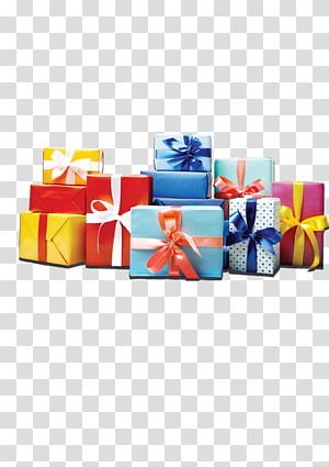 caixas de presente de cores sortidas, embalagem de fita de presente e caixa de rotulagem, presentes Jingmeilihe png