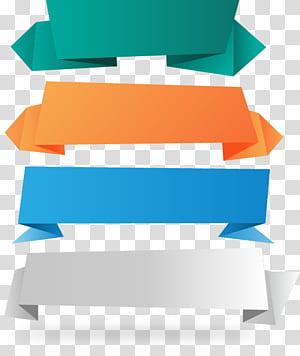 Fita para faixa de papel, 4 faixas para fita de papel, quatro fitas de cores sortidas PNG clipart