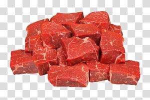 cubos de carne crua, costelas de bife carne carne de porco, carne PNG clipart