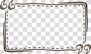 Ícone de cotação MIME, aspas pintadas à mão aspas borda de texto pontilhada, caixa de diálogo retangular png
