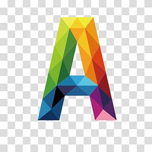 carta multicolorida A ilustração, carta, letras coloridas A PNG clipart