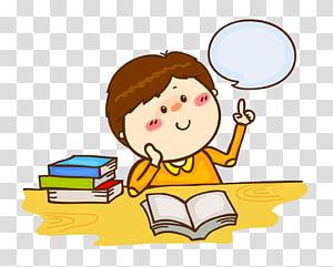 gráfico menino, crianças ler pensamento PNG clipart