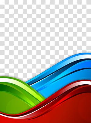 Modelo de cor RGB azul, fundo da curva, azul, verde e vermelho PNG clipart