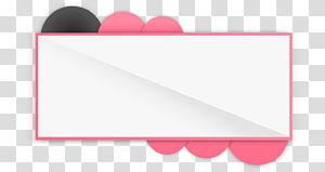 borda rosa e branca, ícone, caixa de título de site fino png