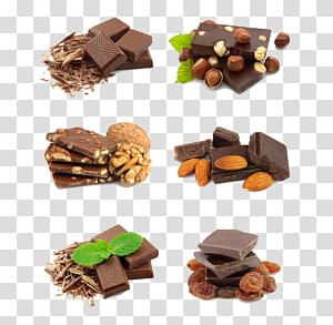 chocolates, Barra de chocolate Bolo de chocolate Brownie de chocolate Nozes, Nozes de chocolate PNG clipart