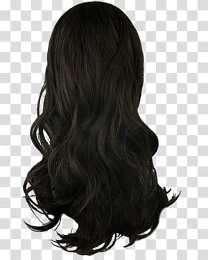 ilustração de peruca preta, cabelo de mulheres PNG clipart