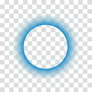 ilustração de moldura azul redonda, padrão de círculo azul, borda do círculo png