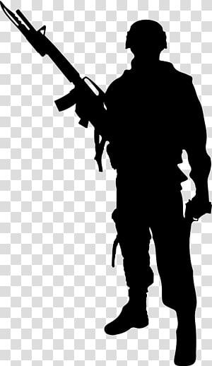 Silhueta de soldado, soldados png