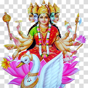 ilustração do deus hindu, gayatri mantra devi vedas, lakshmi mata PNG clipart