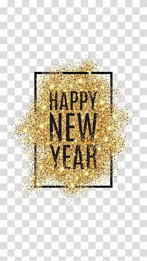 feliz ano novo, dia de ano novo véspera de ano novo desejo resolução de ano novo, feliz ano novo em pó png