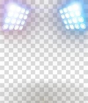 Luz, efeitos de iluminação criativos, dois focos brancos png