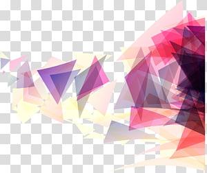 Geometria triângulo Forma geométrica, fundo geométrico triângulo rosa, pintura abstrata vermelha e multicolorida PNG clipart