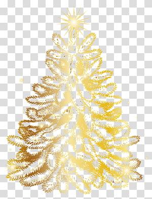 ilustração de árvore de Natal de ouro, árvore de Natal ouro, árvore de Natal de ouro PNG clipart