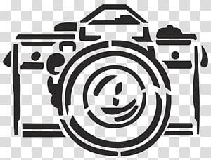 ilustração de câmera dslr cinza, câmera stencil, câmera PNG clipart