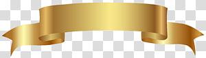Web banner, faixa de ouro, fita de ouro PNG clipart