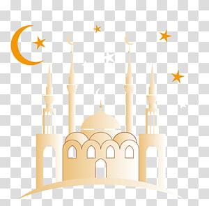 Texto, fundo brilhante Eid al-Mubarak, ilustração de Mesquita PNG clipart