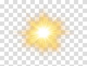 Luz solar céu amarelo padrão, efeito do sol, ilustração de luz do sol PNG clipart