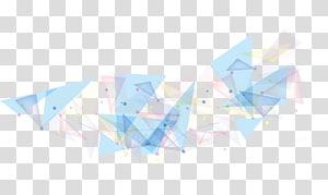 ilustração de luzes de triângulo de corda azul e rosa, geometria de polígono triângulo, polígono colorido PNG clipart