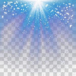 Iluminação, efeito de luz radial, superfície estrelada azul e branca PNG clipart