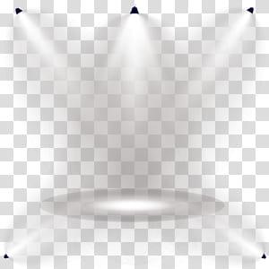 Padrão de ângulo de simetria da linha de luz, luzes do palco brilham efeitos de iluminação, cinco focos PNG clipart