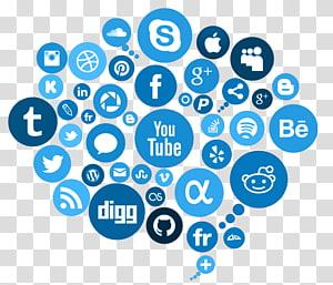 social media logo, Social media marketing Publicidade, Social Media Free PNG clipart